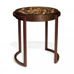 Chrysanthemum Side Table - Bird's Eye Maple