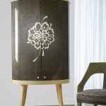 Chrysanthemum Cocktail Cabinet Dark