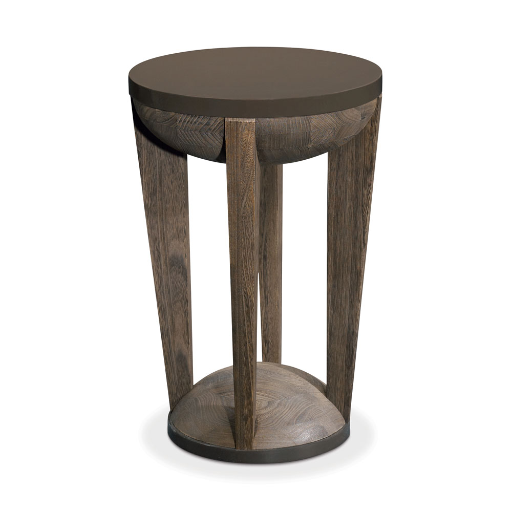 Drum side table matsuoka furniture for Drum side table